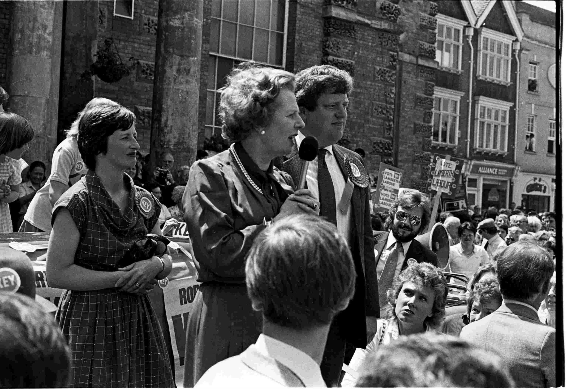 1983 election - Tories increase majority as Mrs Thatcher visits the city