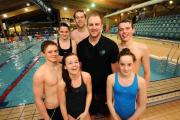 Mark Corben with Salisbury Stingrays' swimmers
