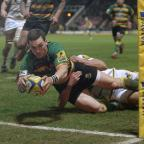 Salisbury Journal: George North scored two tries before going off with a head injury