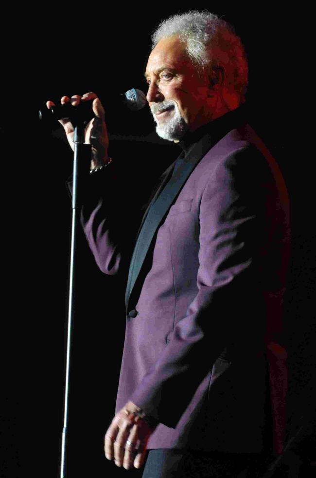 Larmer Tree Festival. DC5362P019Tom Jones on stage on Wednesday night.picture Roger Elliott16/07/2014 (23883375)