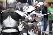 Knights and dragons in city centre for popular St George's Day event