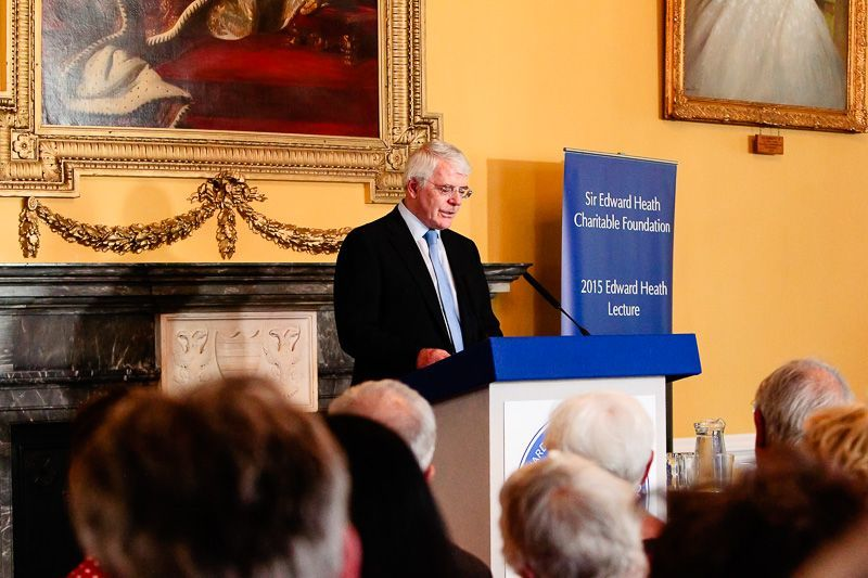 Lord Hunt welcomes former Prime Minister John Major and reveals his debt to Sir Edward Heath
