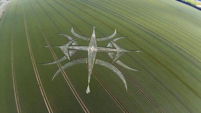 Mysterious crop circle appears near Stonehenge