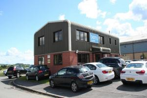 Modern offices overlooking Old Sarum Airfield