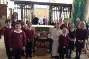 Amesbury CoE Primary School pupils at their Harvest Festival celebrations
