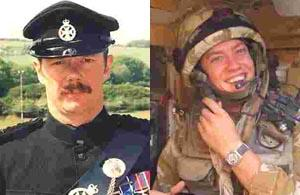 Major Paul Harding and Corporal John Rigby.