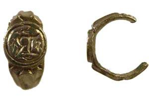 The 15th Century ring found by Stephen Henstridge at Ford.