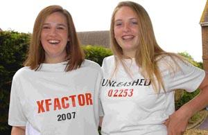 Unleashed, Ringwood's Michelle Scott and Grace Stuart, missed their first round X Factor audition because they were stuck in a lift. DB2247P2