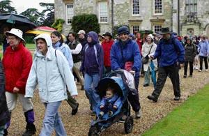 Walkers set off on the Stars Appeal Walk for the Wards at Wilton House. DB2457P01 Picture by Carolyn White.