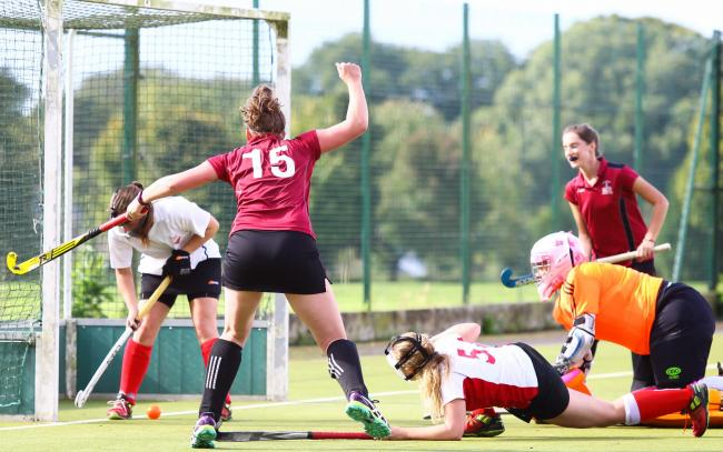 Salisbury celebrate scoring against Firebrands.