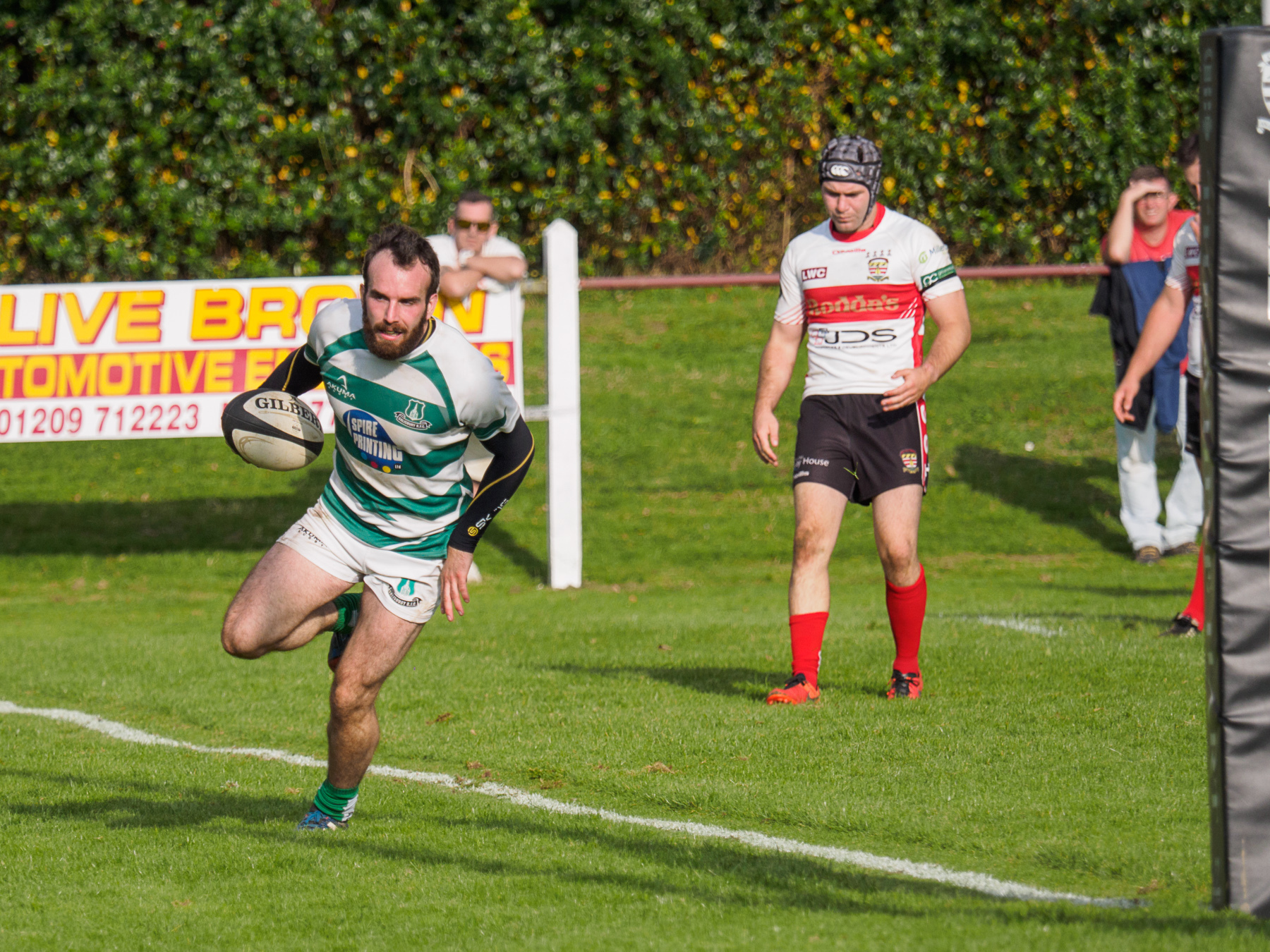 Scrum-half Rob Larcombe made his 100th appearance for Green and Whites on Saturday.