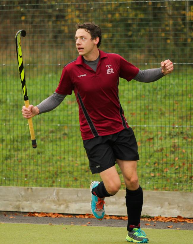 Tom Morton celebrates his goal