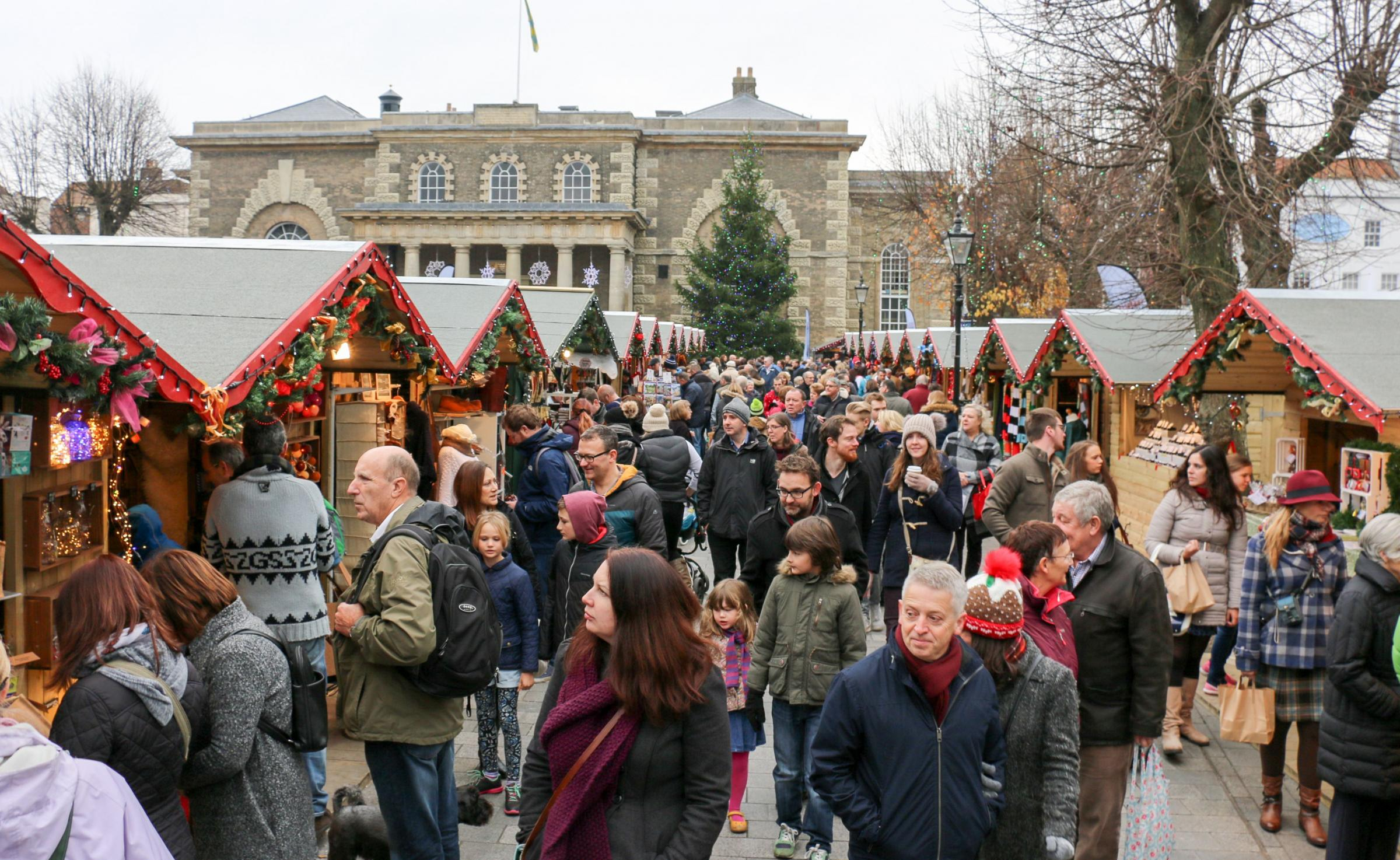 A busy day at the 2016 Christmas Market. Picture by Spencer Mulholland