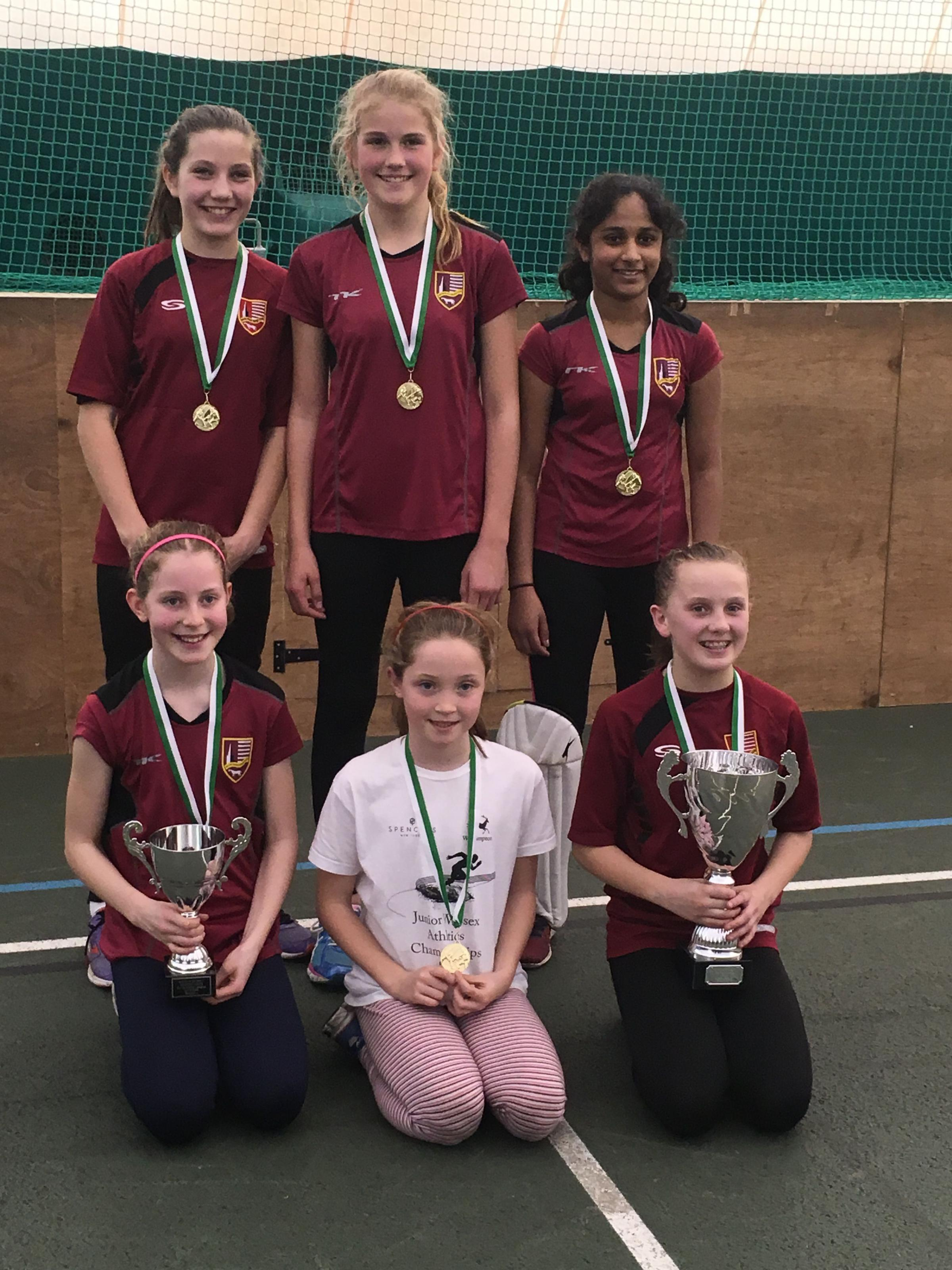 South Wilts Maidens retained their county indoor title