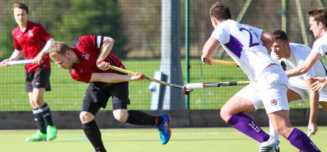 Andy Renshaw was twice on target for Salisbury Hockey Club Men's firsts.