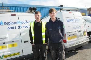 Brad Saul and Luke Philpotts had their vans broken into and tools stolen