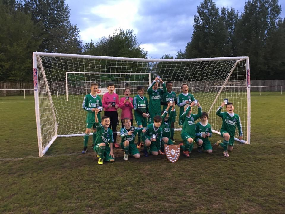 Alderbury under 12's complete league and cup double