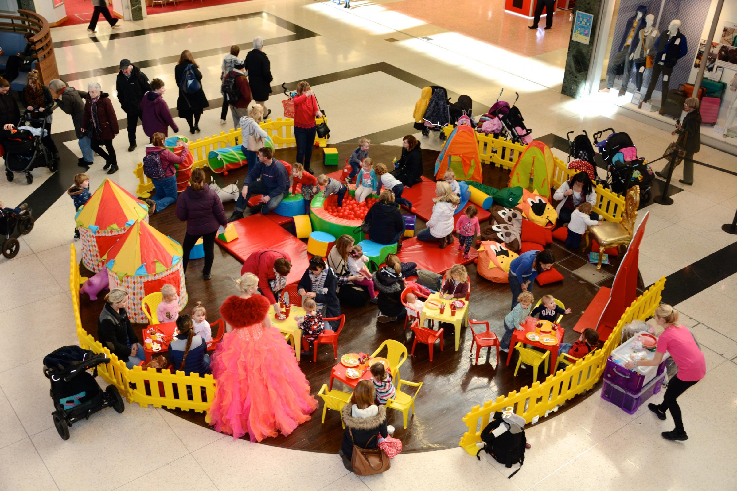 Ocean themed kids' club at the Dolphin Shopping Centre