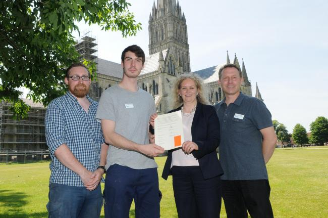 New stonemason apprentice with 'passion' for Salisbury