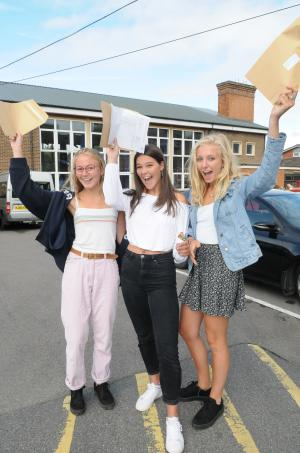 Salisbury Journal: A Level results day. Click here to see more pictures