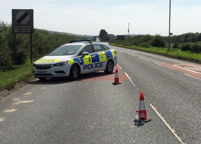 Police closed the A346 after the fatal accident