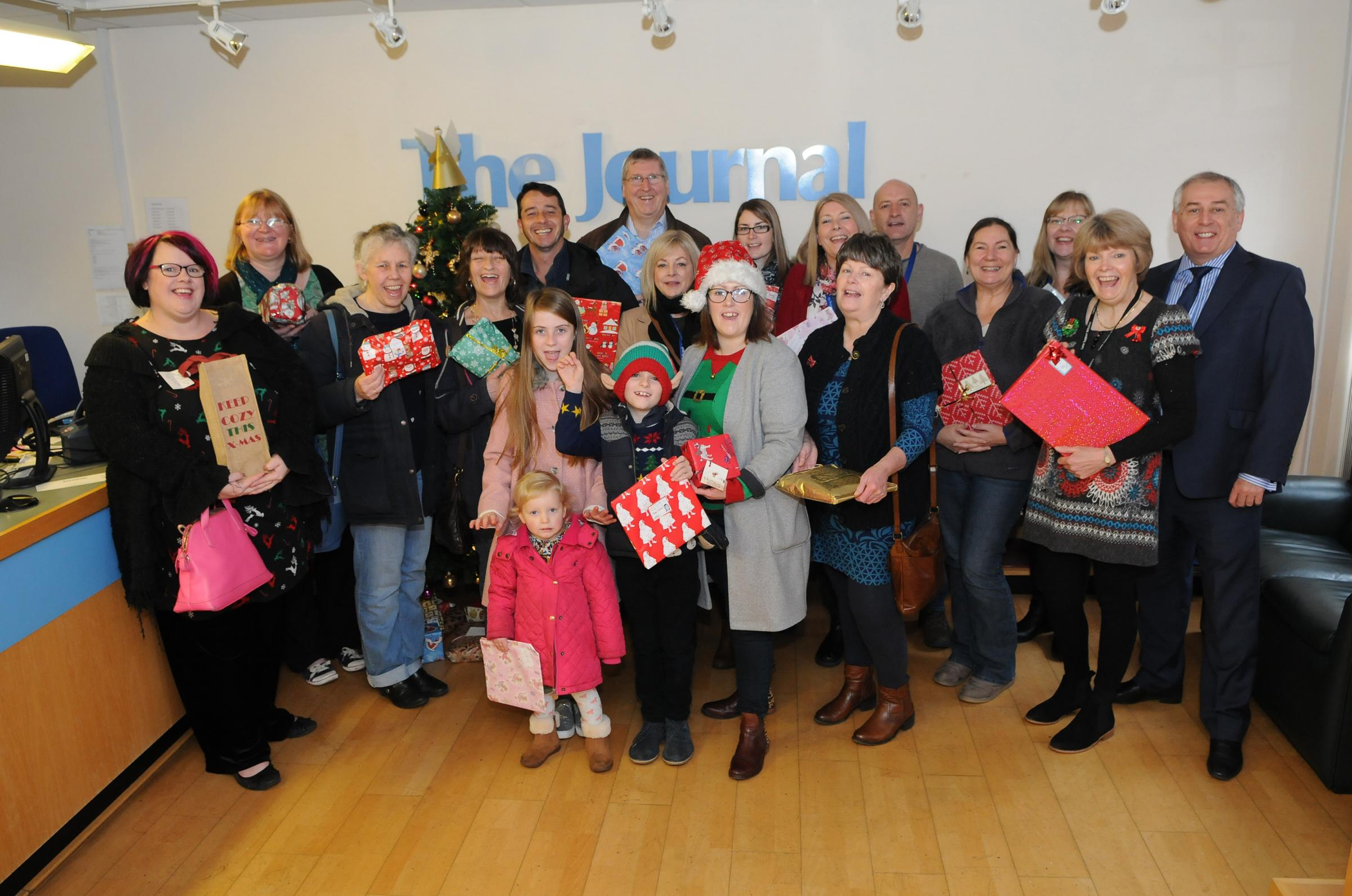 The Salisbury Journal Christmas gift appeal handover in 2016