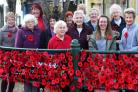 #FordingbridePoppies: The town was decorated with knitted and corchet poppies especially for Remembrance. Pictures by Alex Kelly