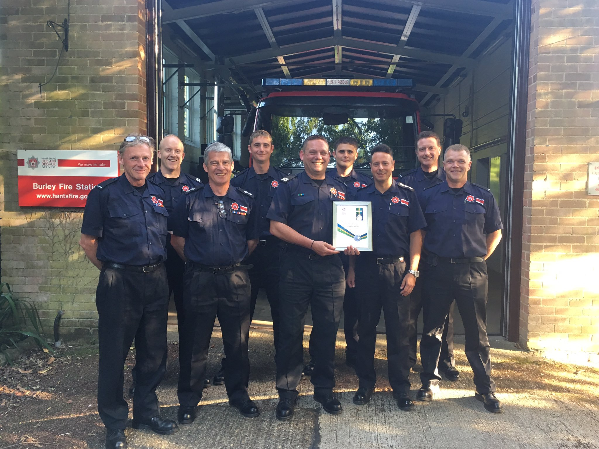 The team at Burley Fire Station. More on-call firefighters needed