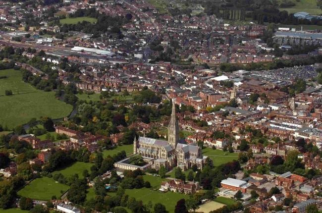 Salisbury from the sky.