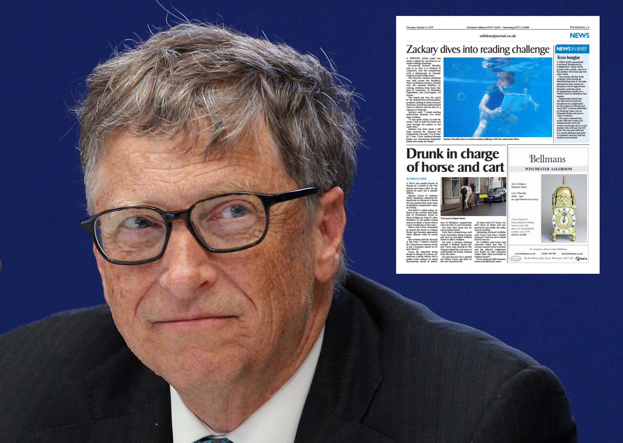Bill Gates confirmed as avid Journal reader