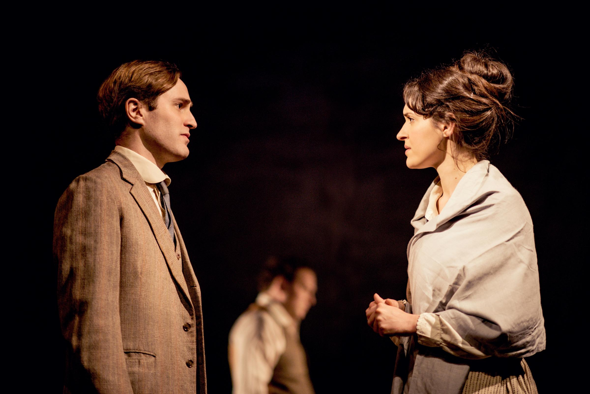 A Passage To India - Edward Killingback (Ronny) and Phoebe Pryce (Adela). Photo by Idil Sukan