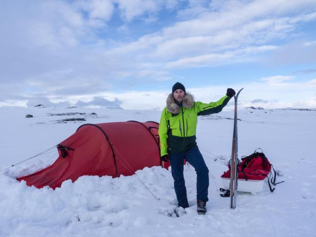 Ash Routen who is setting off on a challenge to walk across Lake Baikal in Siberia