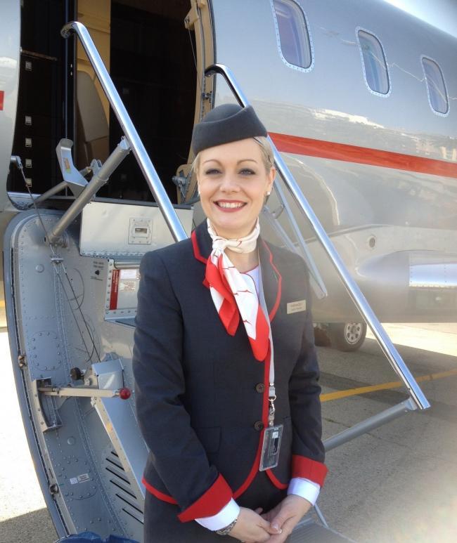 the air hostess