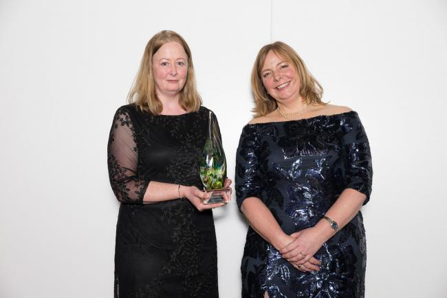 Moors Valley Country Park and Forest scoop awards. Linda Laker, recreation ranger and Tracey Churcher, recreation manager, Forest Commission, receive the gold award