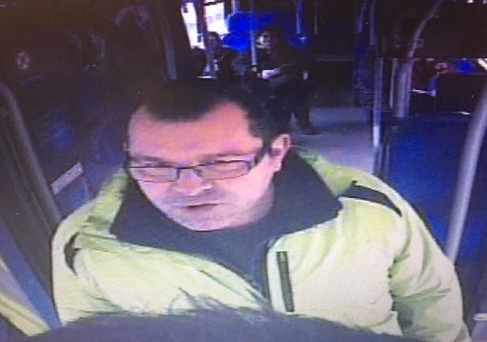 Police want to speak to this man after a bus driver was punched in the face