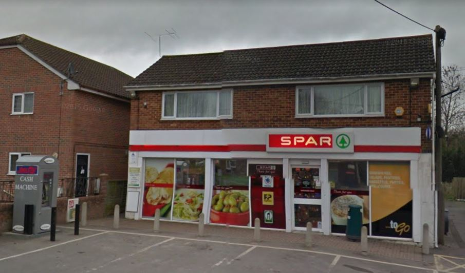 Cash machine at the Spar shop in Tidworth targeted by thieves. Picture from Google Maps