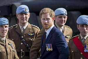 Prince Harry visits the Army Aviation Centre in Middle Wallop