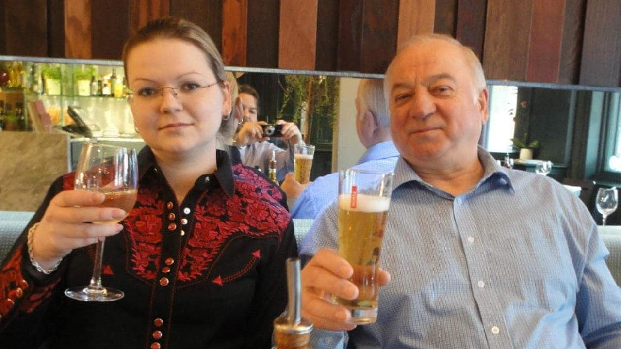 Yulia Skripal with her father, Sergei, in Zizzi Salisbury on a previous visit