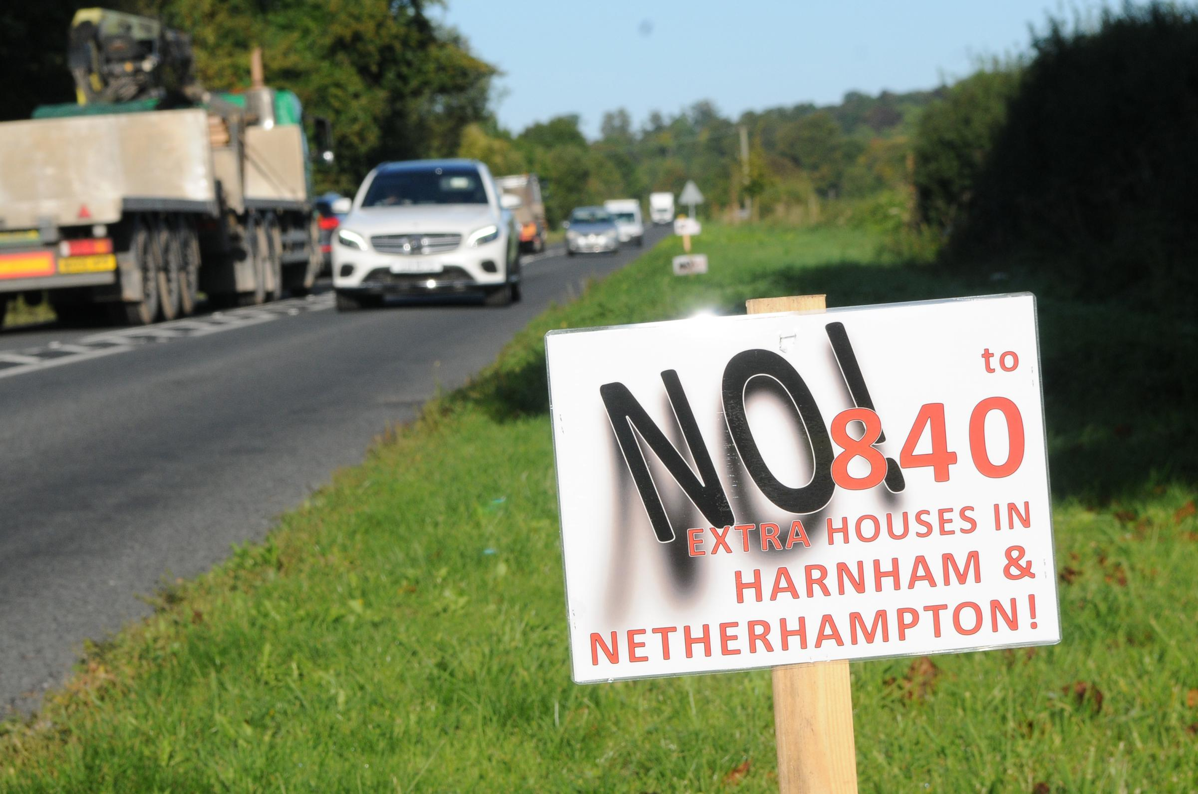 Residents of Harnham and Netherhampton protested against the draft plans last year DC8303P6 Picture by Tom Gregory