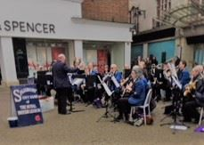 Salisbury City Band of The Royal British Legion plays
