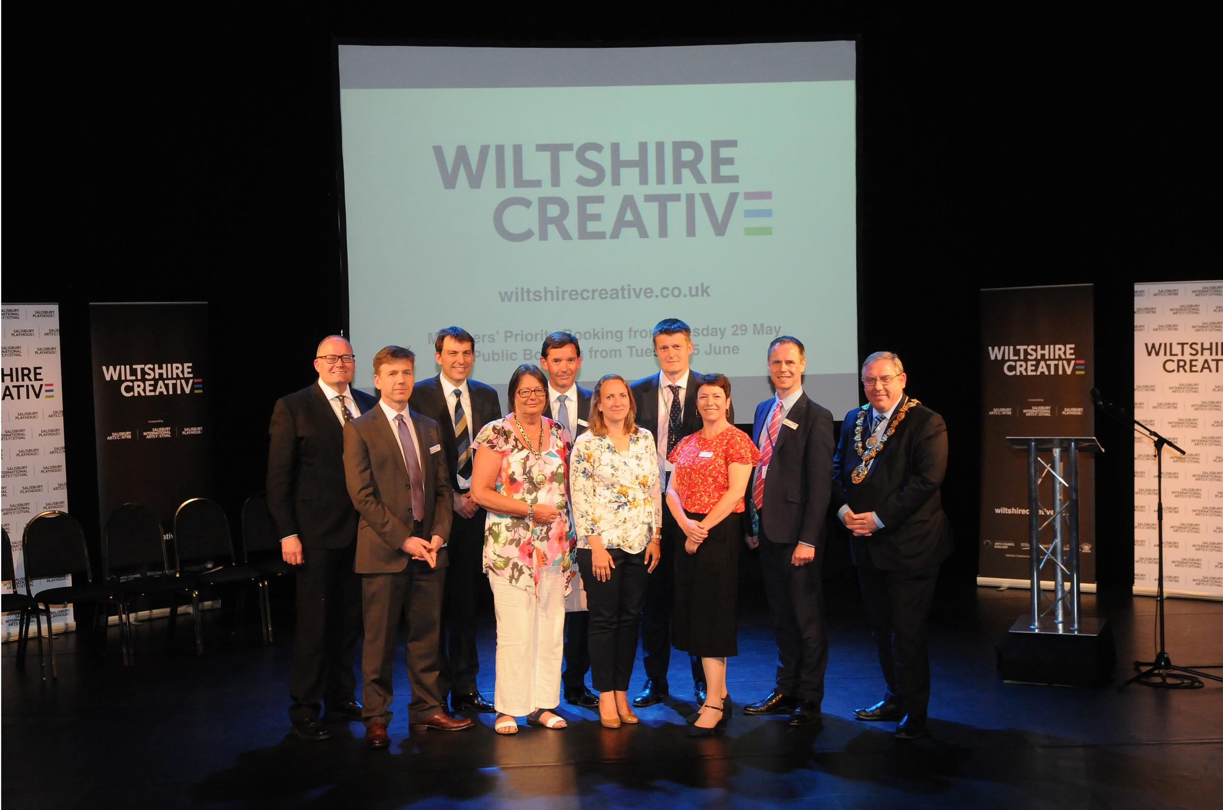 The Wiltshire Creative launch at Salisbury Playhouse DC8653P21 Picture by Tom Gregory.