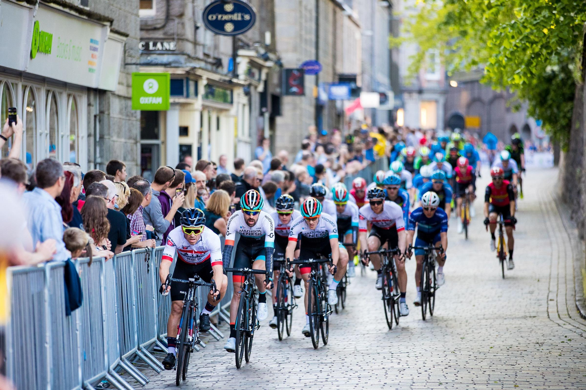 The Tour Series makes its way through Aberdeen during round 8 – the grand final will be in Salisbury on May 31