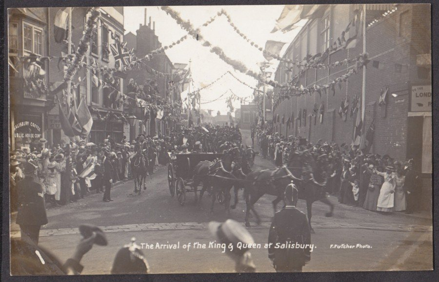 Arrival of the King in Salisbury, 1908