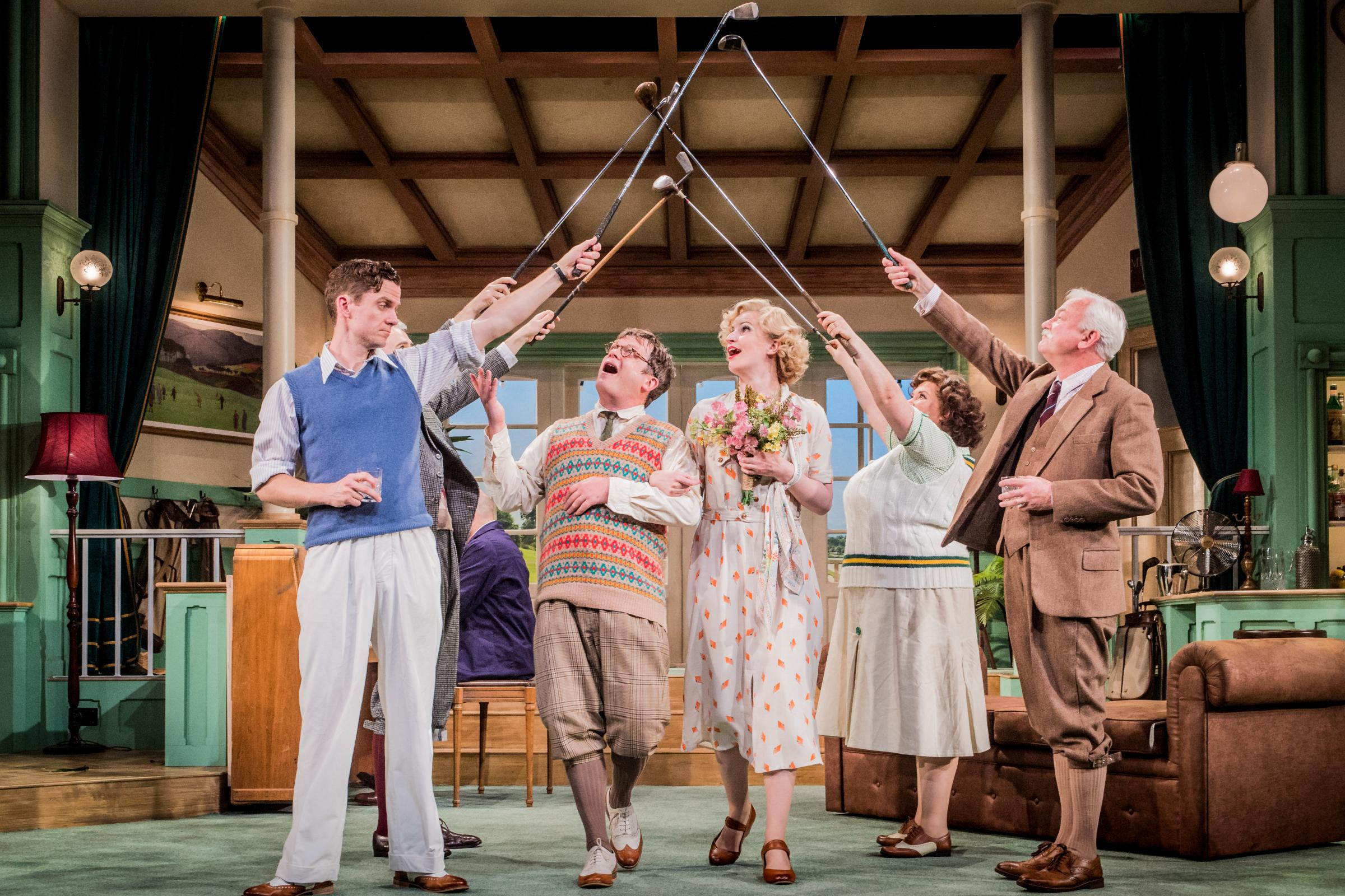 Love on the Links at Salisbury Playhouse   Picture by Robert Workman