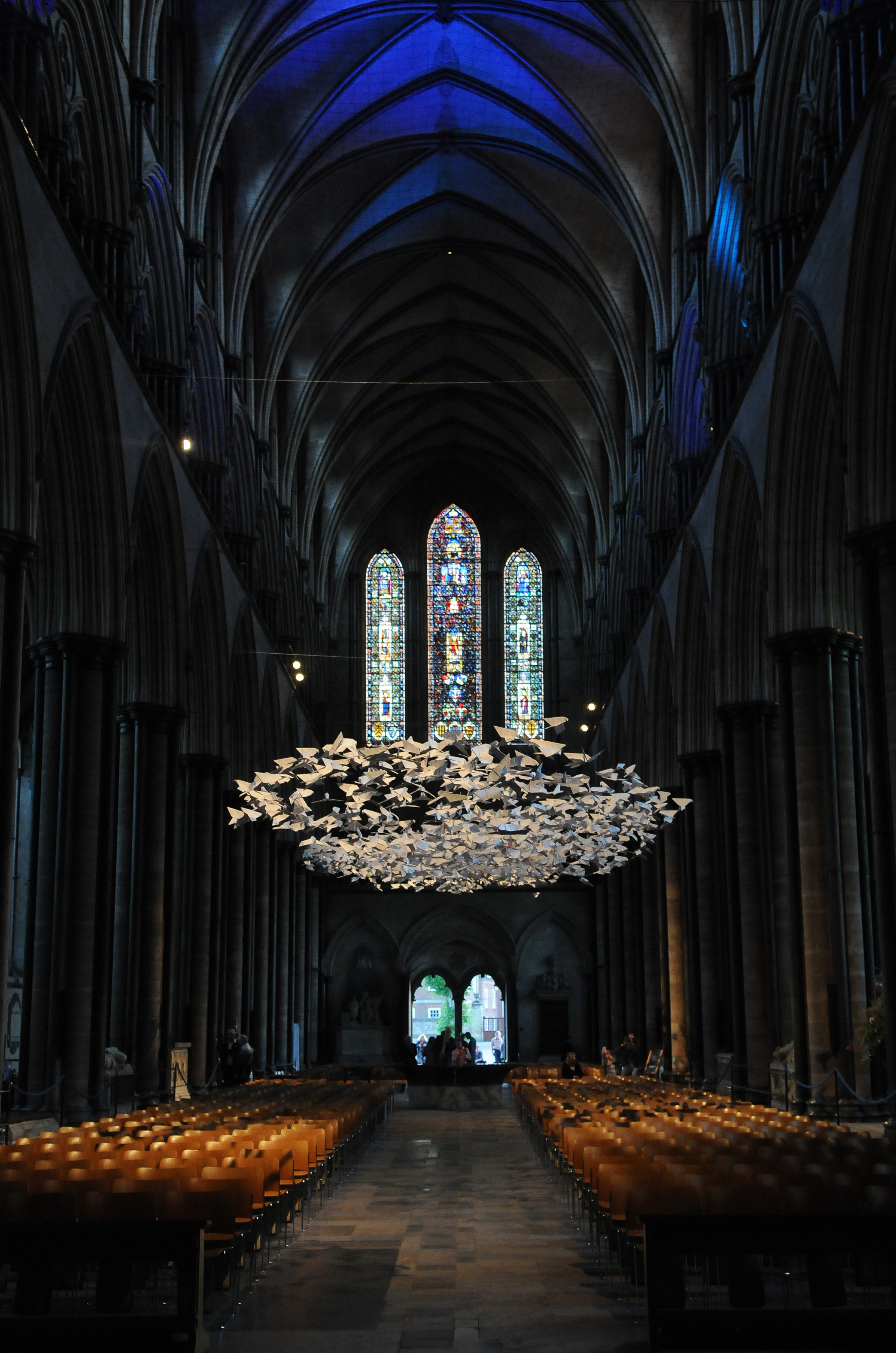 'Les Colombes' at Salisbury Cathedral DC8701P5 Tom Gregory