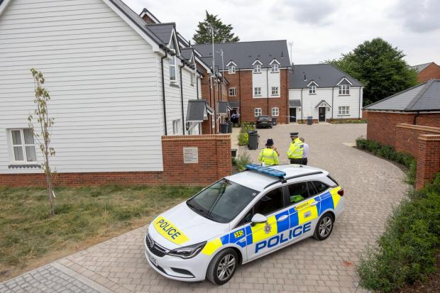 Salisbury Journal: Police at the house in Muggleton Road in Amesbury where a couple fell ill after being exposed to the nerve agent Novichok (Steve Parsons/PA)