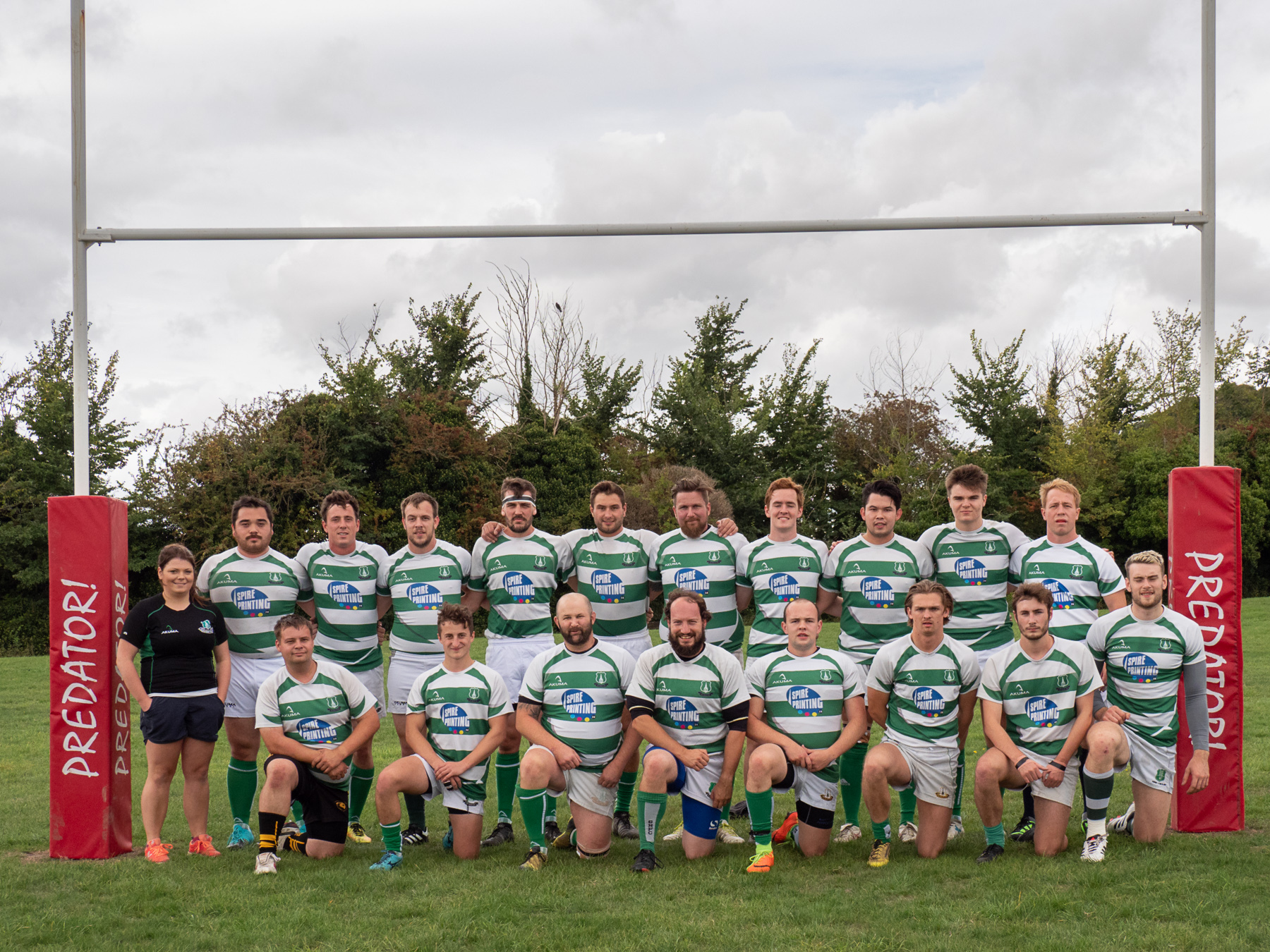 Salisbury United - the club's second team - before their match against Dorset Dockers