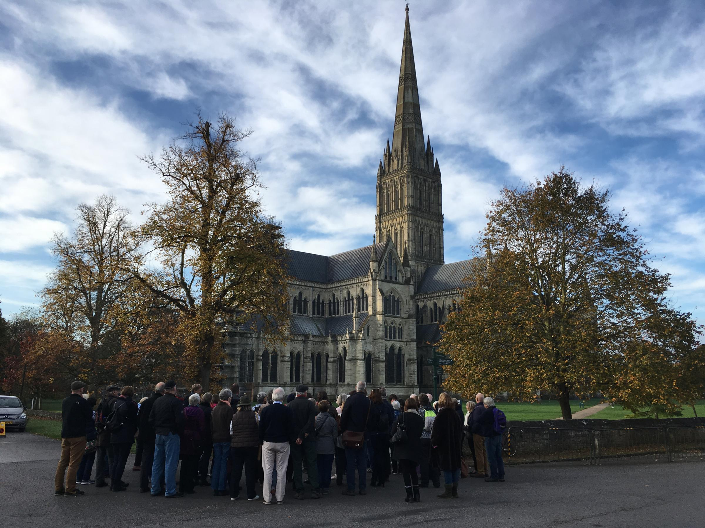 Literary Walk on Saturday Morning, which featured readings from Thomas Hardy, Charles Dickens and William Golding. Picture: Russell Mardell