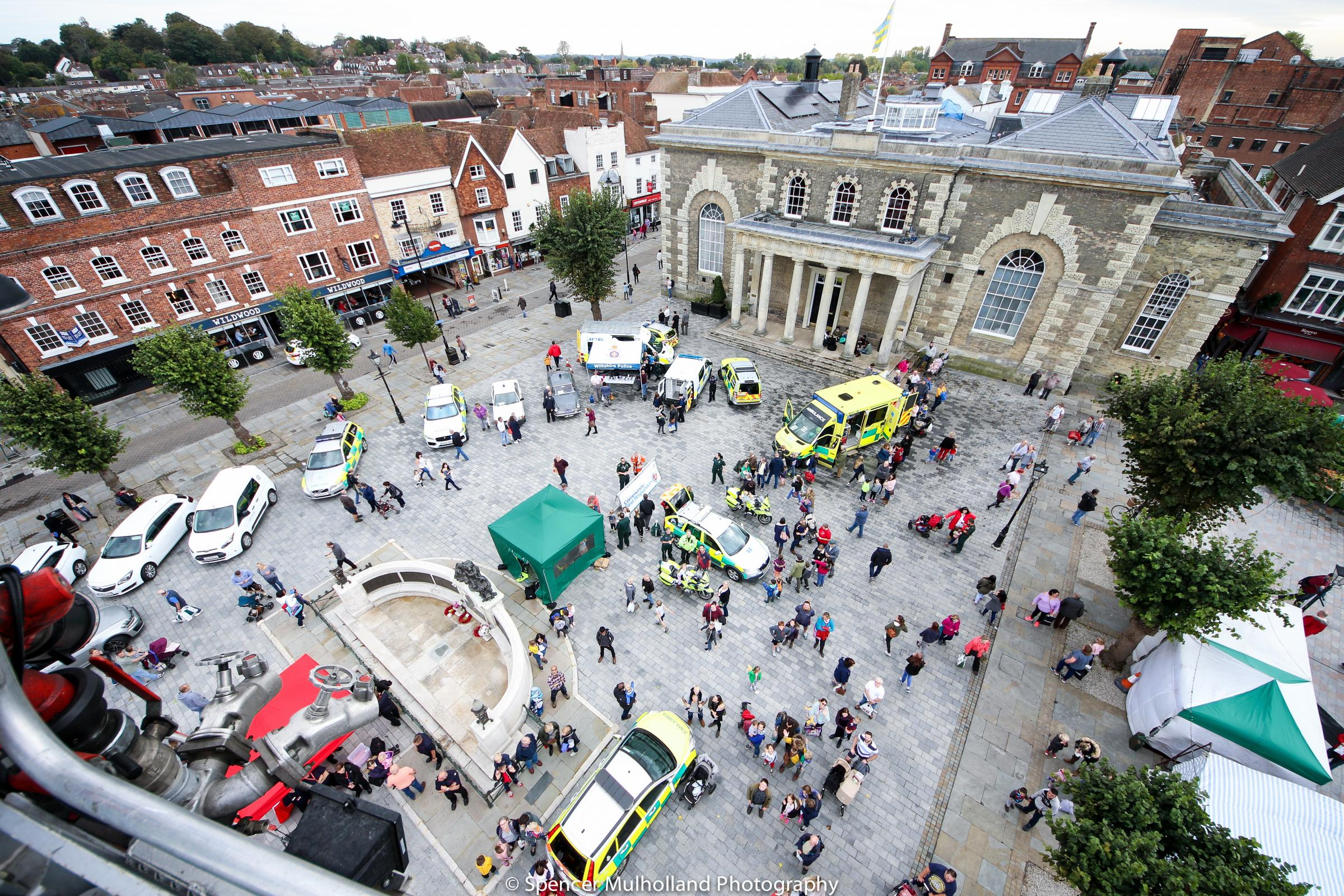999 Emergency Services Day in the Guildhall Square, Salisbury..Picture by Spencer Mulholland.