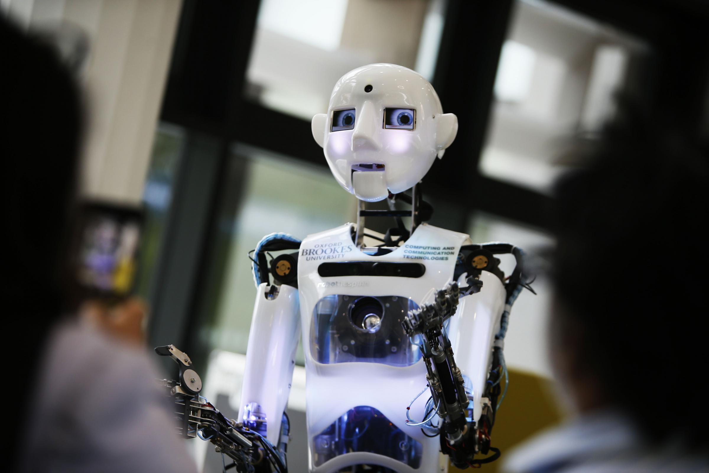 The singing robot – The 20th Venturefest at Oxford Brookes University. Picture by Ed Nix